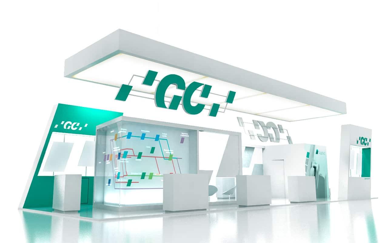 Fabricación de Stands par GC Infografía lateral