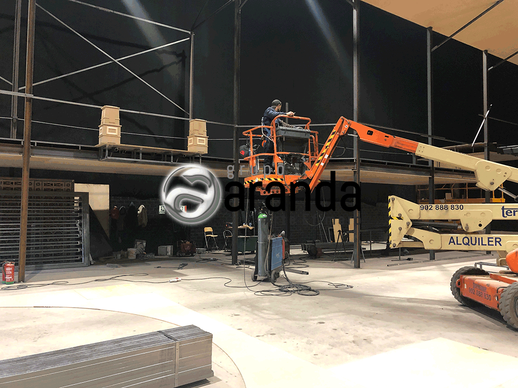 Set construction. TV City Studios