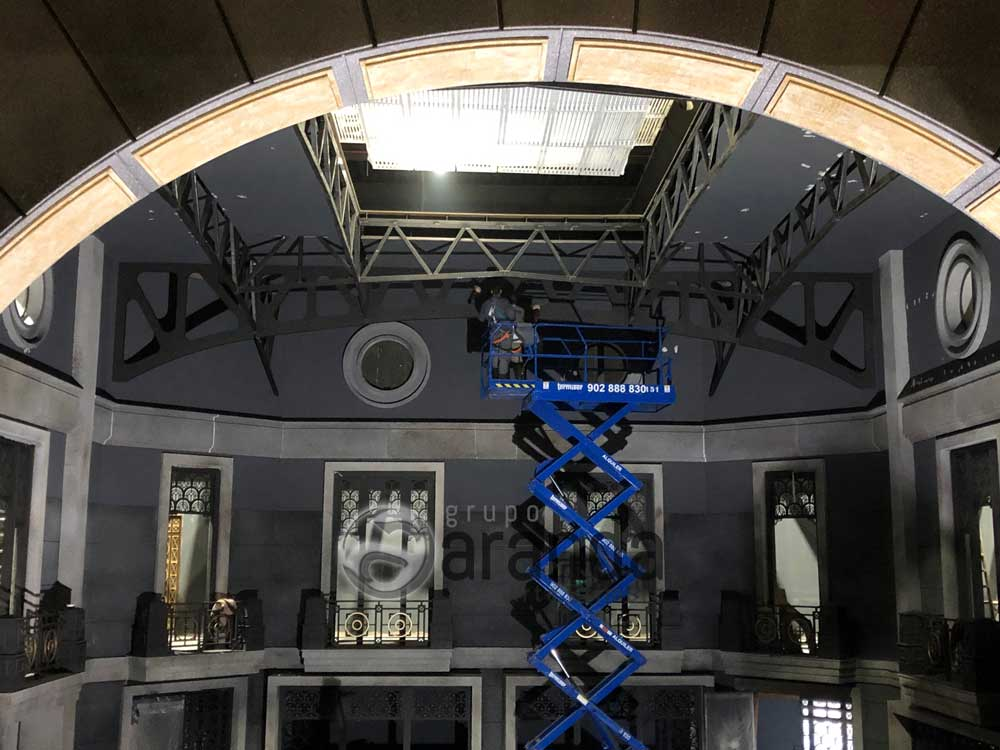 Construction of sets The house of Money Heist